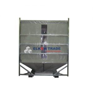 Behälter für leere Flaschen 12,4 m3 (2520 x 2480 x h 2869 mm)