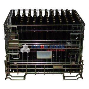 Pojemnik siatkowy -  Bordo podwyższony 1210 x 926 x h 1120 mm