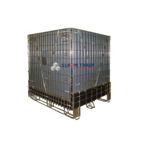 Mesh container with skids 1200 x 1023 x h 1150 mm