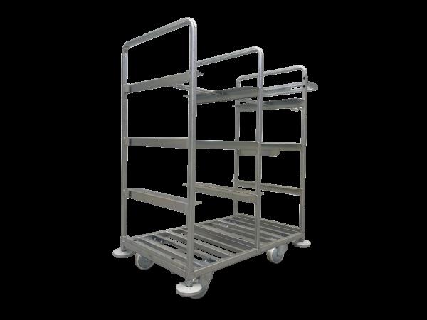 Metalowy wózek do kompletacji zamówień 1109 x 624 x 1150