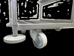 metalowy wózek do komisjonowania